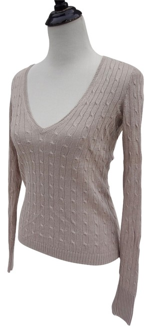 J.Crew Linen Cable V-neck Sweater