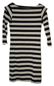 French Connection short dress Black and white stripes on Tradesy