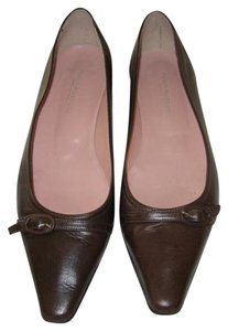 Fabio Rusconi Pointy Toe Italian Leather Designer Brown Flats