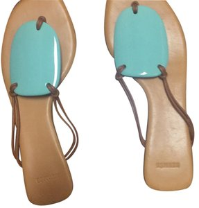 Hermès Blue & tan Sandals