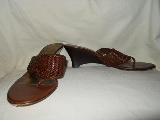 Other Leather Woven brown Wedges