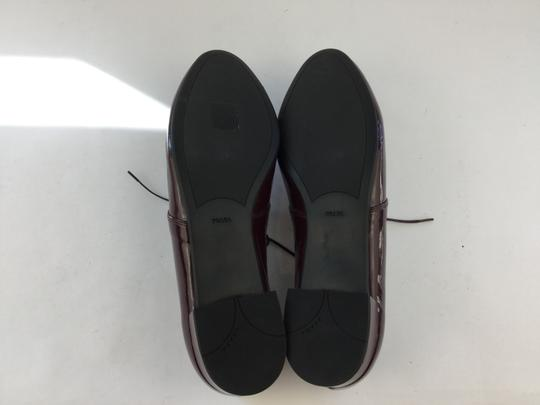 Prada Oxford Penny Lane Oxblood Flats