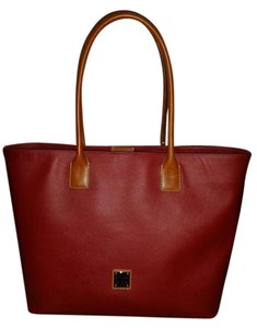 Dooney & Bourke Leather Rare Tote in Red