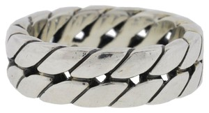 David Yurman David Yurman Men's Curb Chain Band Sterling Silver Ring