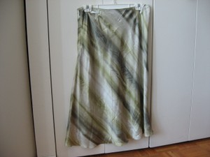Lafayette 148 New York Silk Designer Lined Skirt Green
