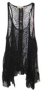Silence + Noise Lace Edgy Top Black