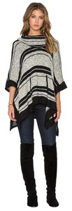 Splendid Poncho Stripe Sonoran Sweater
