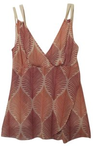 Weston Wear Anthropologie Tank Mesh Like New Top Rust, burnt orange, off-white