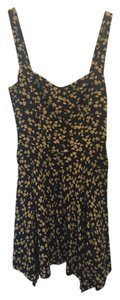 Joie short dress Navy/Yellow on Tradesy