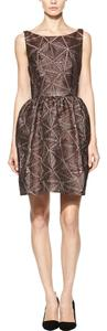 Alice + Olivia Bronze Cut-out Dress