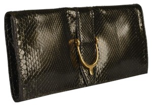 Gucci Deep Olive Green Clutch
