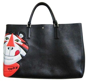 Anya Hindmarch Leather Tote in Black