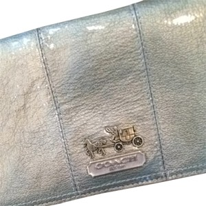 Coach Wristlet in Metallic Gold