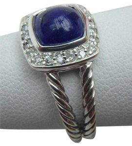 David Yurman DAVID YURMAN Petite Albion Ring with Lapis Lazuli and Diamonds