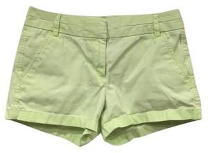 J.Crew Mini/Short Shorts Green, Yellow
