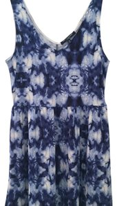 One Clothing short dress Blue and white on Tradesy