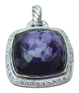 David Yurman david yurman 17mm Pendant with black orchid and Diamonds