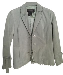 Terry Lewis Classic Luxuries Soft sage green Leather Jacket