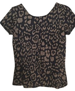 Ann Taylor Top Navy blue and taupe