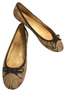 Coach Brown/Taupe/Dark Brown Flats