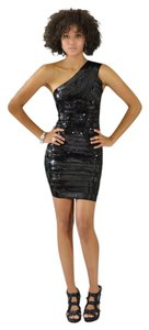 MADISON JAMES Sequin Bandage One Shoulder Dress