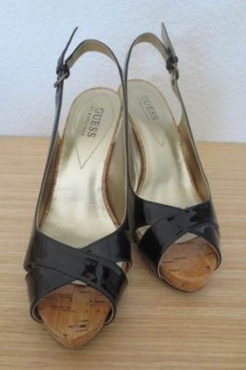 Guess By Marciano Black Patent Leather Pumps