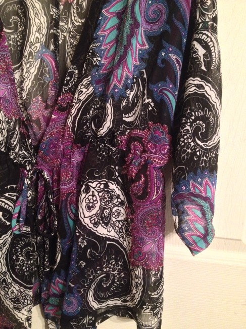 New Directions Top Purple & Black