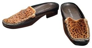 Laura Ashley Black with leopard print. Flats