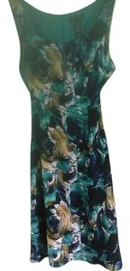 Axcess short dress Multi - Blue, Teal, White, Tan Date Night A-line on Tradesy