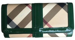 Burberry Burberry Green Super Nova Penrose Continental Wallet