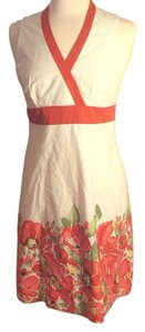 Cream/Orange Maxi Dress by Ann Taylor