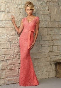 Mori Lee NEVER WORN Coral Lace Affairs Bridesmaids 724 Dress
