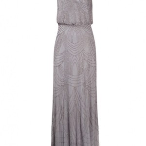 Adrianna Papell Silver Gray Dress