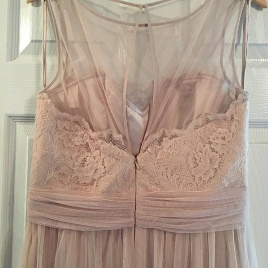 Amsale Champagne Lace/Tulle Feminine Bridesmaid/Mob Dress Size 12 (L) Image 4