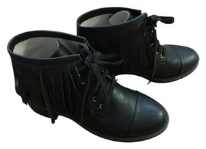 House of Harlow 1960 Fringe Fringe Black Boots