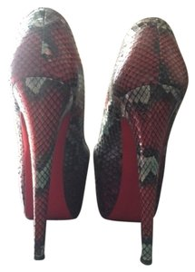 Christian Louboutin Protective Sole Rubber Sole Red, Blue and Purple Tie Dye Platforms