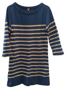 J.Crew short dress Blue and White Striped on Tradesy