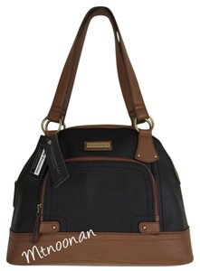 Tignanello Satchel in Black Cognac