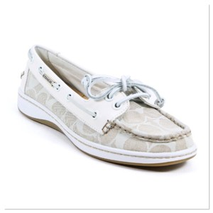Coach Off-White Flats