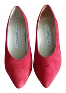 Via Spiga Suede Simple/chic red Pumps