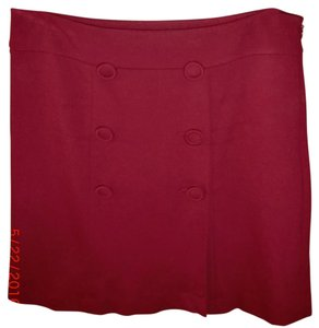 Talbots Lovely Material Skirt Cranberry Red