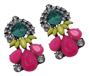 Clearance Item- Glue Showing Pink and Yellow Earrings w Free Shipping