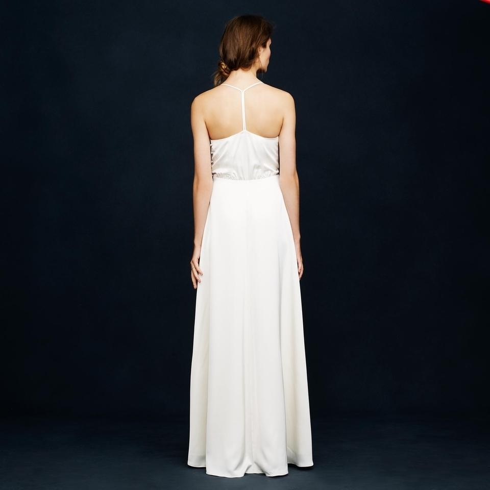 J.Crew Ivory Manuela Modern Wedding Dress Size 4 (S) - Tradesy