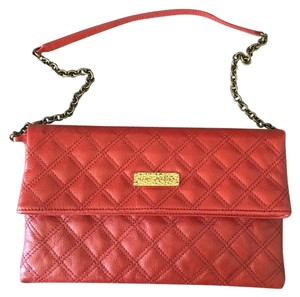 Marc Jacobs Crossbody Leather Red Clutch