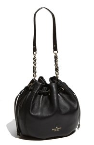 Kate Spade Leather Gold Hardware Chain Bucket Shoulder Bag