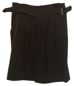 BCBGMAXAZRIA Buckles Mini Skirt Black