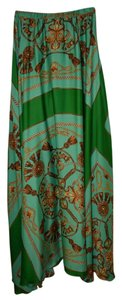 Von Vonni Amazing Green Maxi Skirt Green Multi