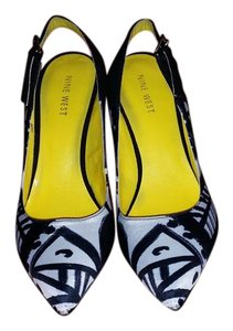 Nine West Black/white Fabric Stylish Black/white print Pumps