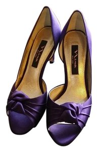 Nina Shoes Satiny purple Formal