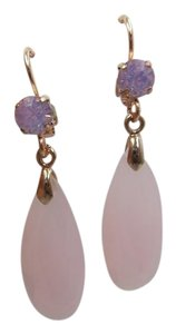 Other Rosetone Pink Crystal Lever-Back Fashion Earrings w Free Shipping